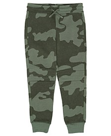 Little Boys Drawstring Camo Basic Knit Jogger