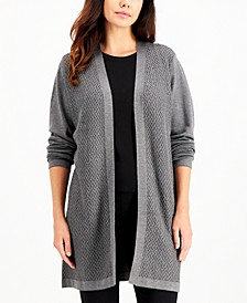Chevron-Knit Open-Front Cardigan, Created for Macy's