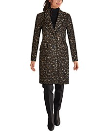 Leopard-Print Reefer Coat