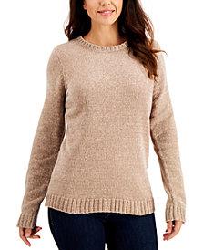 Karen Scott Chenille Sweater,Created for Macy's