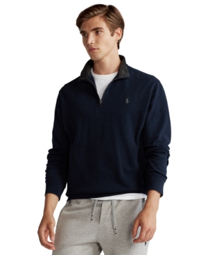POLO RALPH LAUREN MEN'S BIG & TALL JERSEY QUARTER-ZIP PULLOVER