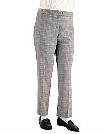 Anne Klein Plus Size Plaid Bowie-Tab Pants