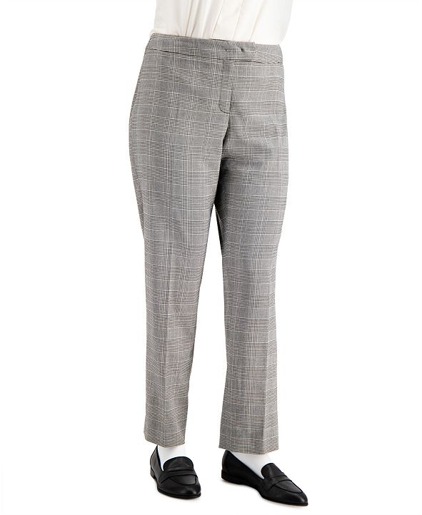 Anne Klein Plus Size Plaid Bowie-Tab Pants