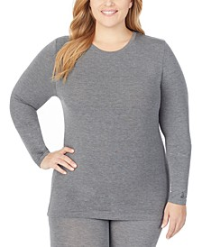Plus Size Softwear Long-Sleeve Crewneck Top