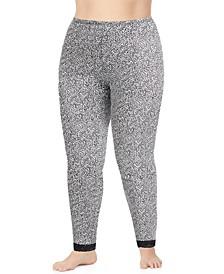 Plus Size Softwear Lace-Edge Leggings