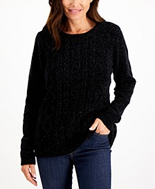 Chenille Cable-Knit Sweater, Created for Macy's