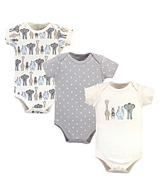 Boys and Girls Royal Safari Bodysuits, Pack of 3