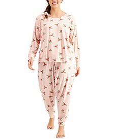 Plus Size Srunchie & Pajamas 3pc Set, Created for Macy's