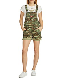 Juniors' Camo-Print Shortalls