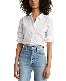 Cotton Button-Front Shirt