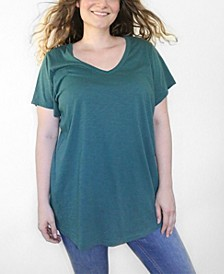 Women's Plus Size CloudSoft V-Neck Tunic