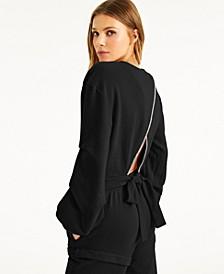 CULPOS X INC Cutout-Back Sweatshirt, Created for Macy's