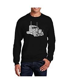 Big & Tall Men's Word Art Keep On Truckin' Crewneck Sweatshirt