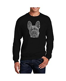 Men's Word Art French Bulldog Crewneck Sweatshirt
