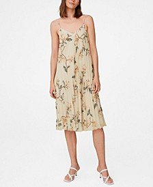 Women's Pleated Floral Dress