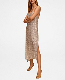 Women's Asymmetric Sequin Dress