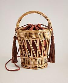 Women's Wooden Basket Bag