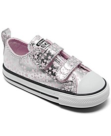 Toddler Girls Chuck Taylor All Star Metallic Stars Stay-Put Closure Casual Sneakers from Finish Line