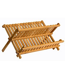 Bamboo Folding Compact Dish Drying Rack