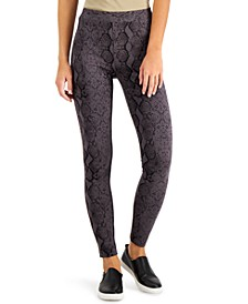 Snake-Print Pull-On Legging, Created for Macy's