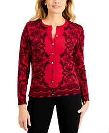 Scroll Delight Button Cardigan, Created for Macy's