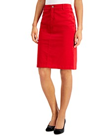 Velveteen Pencil Skirt, Created for Macy's