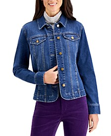 Button-Up Denim Jacket, Created for Macy's