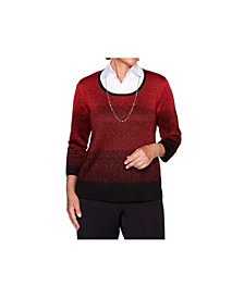 Alfred Dunner Women's Pointelle Two for One