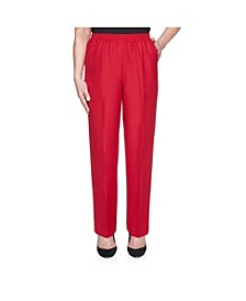 Women's Classic Textured Proportioned Medium Pant