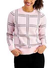 Plaid Crewneck Sweater, Created for Macy's