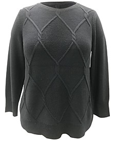 Plus Size Cable-Knit Pullover Sweater, Created for Macy's