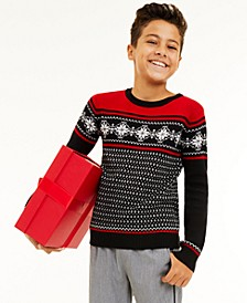 Big Boys Snowflake Sweater, Created for Macy's