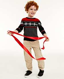 Little Boys Snowflake Sweater, Created for Macy's