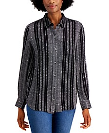 Sparkle Plaid-Print Shirt, Created for Macy's