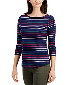 Cotton Rainbow-Stripe Top, Created for Macy's