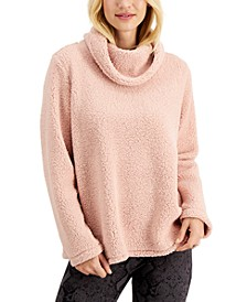 Petite Cowlneck Sherpa Pullover, Created for Macy's