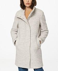 Verda Stand-Collar Bouclé Coat