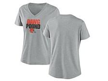 Cleveland Browns Women's Local Tri-Blend V-neck T-Shirt