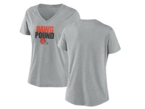 Nike Cleveland Browns Women's Local Tri-Blend V-neck T-Shirt