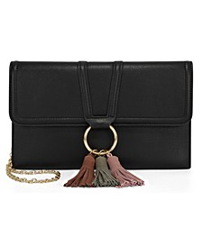 INC Jeenn Foldover Tassel Clutch, Created For Macy's