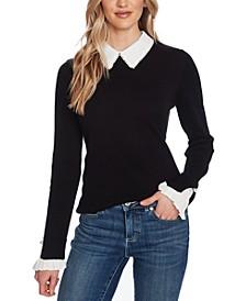 Peter-Pan Collar Pullover Sweater