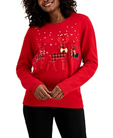 Patchwork Reindeer Sweater, Created for Macy's