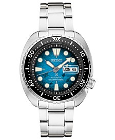 Men's Prospex Blue Manta Ray Diver Stainless Steel Bracelet Watch 45mm - A Special Edition