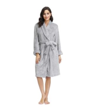 "Ink+Ivy Women's Embossed Plush Robe 42"" Hps"