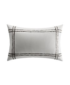 Charcoal Vines Mohair Plaid Breakfast Pillow