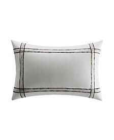 Charcoal Vines Mohair Plaid Breakfast Pillow