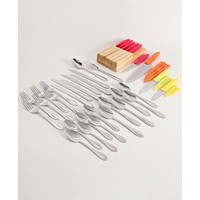 Deals on Gibson Home Wilmington Plus 36 Piece Flatware Set