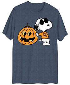 Men's Snoopy Being Cool Halloween Short Sleeve T-shirt