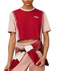 Molly Cotton Colorblocked Cropped T-Shirt