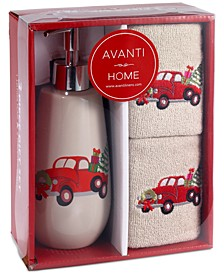 CLOSEOUT! Holiday Truck 3-Pc. Bath Box Set